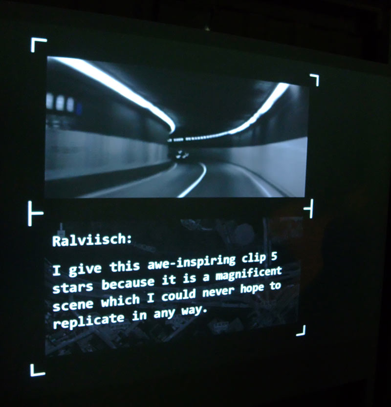 Low-Rez Stories, dual-screen installation, July 2010